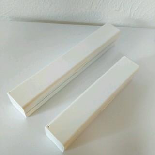 ムジルシリョウヒン(MUJI (無印良品))の無印良品 ラップケース (白)【大小セット】(収納/キッチン雑貨)