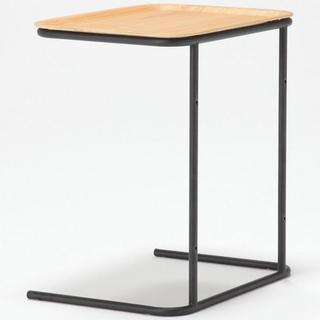 ムジルシリョウヒン(MUJI (無印良品))の無印良品 サイドテーブル タモ材 スチールトレースタンド(コーヒーテーブル/サイドテーブル)