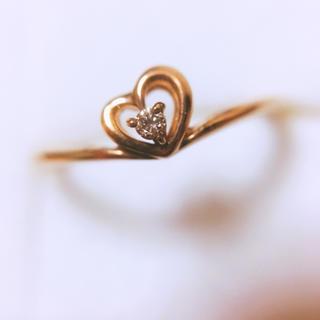 k10 D0.01ct ダイヤモンド付ゴールドリング(リング(指輪))