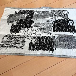 ムジルシリョウヒン(MUJI (無印良品))の【新品】北欧雑貨 羊柄クロス 無印良品 IKEA  クリッパン(収納/キッチン雑貨)