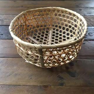 竹カゴ  4点セット  小物収納  竹ザル   水切りかご 小物入れ (バスケット/かご)