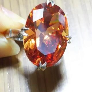 18K刻印有り  オレンジストーン  ヴィンテージリング(リング(指輪))