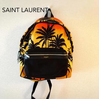 サンローラン(Saint Laurent)の美品 サンローラン パームツリー 柄 リュック バックパック(バッグパック/リュック)