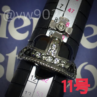 ヴィヴィアンウエストウッド(Vivienne Westwood)のディアマンテハートリング ブラック(リング(指輪))