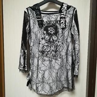 エーシーディーシーラグ(ACDC RAG)のACDC RAG エーシーディーシーラグ 蜘蛛の巣 メッシュ パンク ロンT(Tシャツ(長袖/七分))