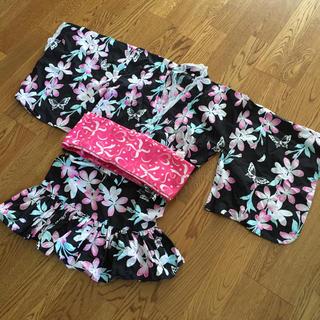 シマムラ(しまむら)のお値下げ❗️女の子甚平上下セット、サイズ130(甚平/浴衣)