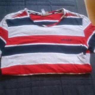 アディダス(adidas)のアディダスボーダーTシャツ(Tシャツ/カットソー(半袖/袖なし))