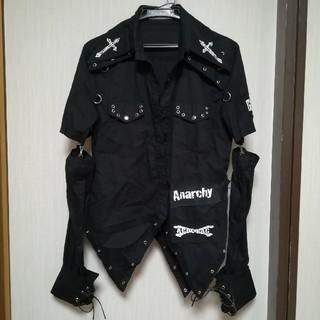 エーシーディーシーラグ(ACDC RAG)のACDC RAG ユニセックス パンクロックシャツ ブラック(カットソー(長袖/七分))