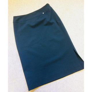 アイグナー(AIGNER)のアイグナー  シンプル黒タイトスカート(ひざ丈スカート)