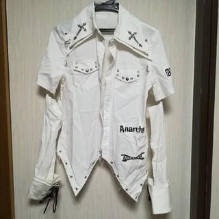 エーシーディーシーラグ(ACDC RAG)のACDC RAG ユニセックス パンクロックシャツ ホワイト(カットソー(長袖/七分))