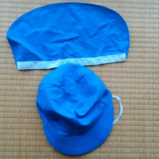 カラー帽子 青 襟つき(帽子)