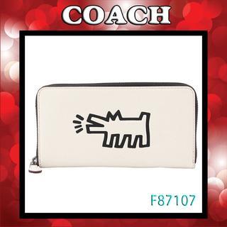 コーチ(COACH)の新品 COACH F87107 QBCHK コーチ×キース・ヘリング 長財布(財布)