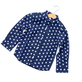 韓国子供服 スター柄長袖シャツ A201(ブラウス)
