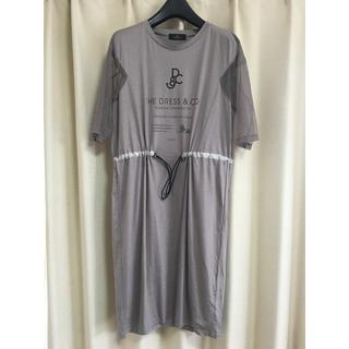 ザドレスアンドコーヒデアキサカグチ(The Dress & Co. HIDEAKI SAKAGUCHI)のTheDress&Co. カットソーワンピース(ひざ丈ワンピース)