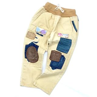 韓国子供服  デザインパンツ W016(パンツ/スパッツ)
