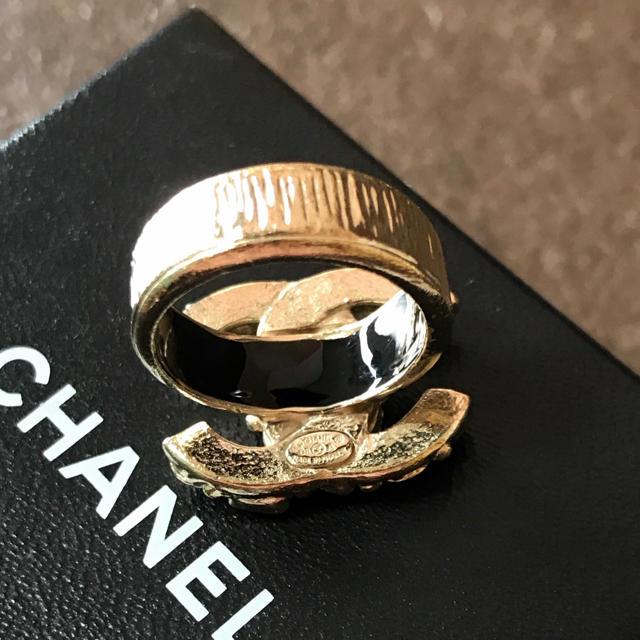 58f971927639 CHANEL(シャネル)の正規品 シャネル 指輪 ゴールド ココマーク 金 ラインストーン リング