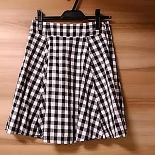 ローリーズファーム(LOWRYS FARM)の美品 ローリーズファーム ギンガムチェック スカート サイズM(ミニスカート)