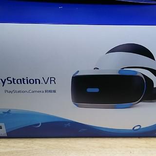 プレイステーションヴィーアール(PlayStation VR)のPSVR 新型モデル PScamera同梱版 CUHJ-16003 中古美品 (家庭用ゲーム機本体)