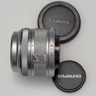 オリンパス(OLYMPUS)のM.ZUIKO DIGITAL 14-42mm F3.5-5.6 II R 銀(レンズ(ズーム))