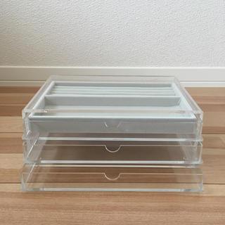 ムジルシリョウヒン(MUJI (無印良品))のkannnna様専用♡MUJI♡重なるアクリルケース引き出し3段とベロア内箱仕切(小物入れ)