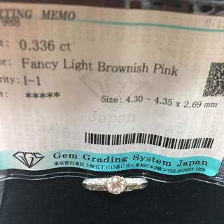 pt900 ピンクダイヤモンドリング(リング(指輪))