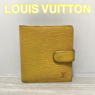 ルイヴィトン(LOUIS VUITTON)の【正規品】ルイヴィトン エピ 折り財布 財布 イエロー パープル(財布)