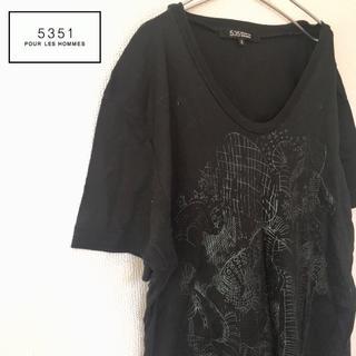 デカロゴ 5351プールオム Vネック Tシャツ アバハウス メンズ Tシャツ