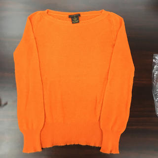 ルイヴィトン(LOUIS VUITTON)の正規品 ルイヴィトン ニットセーター 長袖 オレンジ サイズM(ニット/セーター)