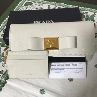 プラダ(PRADA)のプラダサフィアーノリボン長財布(財布)