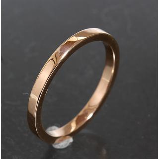ティファニー(Tiffany & Co.)のティファニー TIFFANY シンプル リング 14号 K18PG 新品仕上済 (リング(指輪))