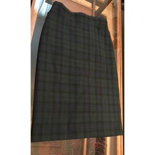 グリーンレーベルリラクシング(green label relaxing)のスカート、タイト、チェック、ミディ丈(ひざ丈スカート)