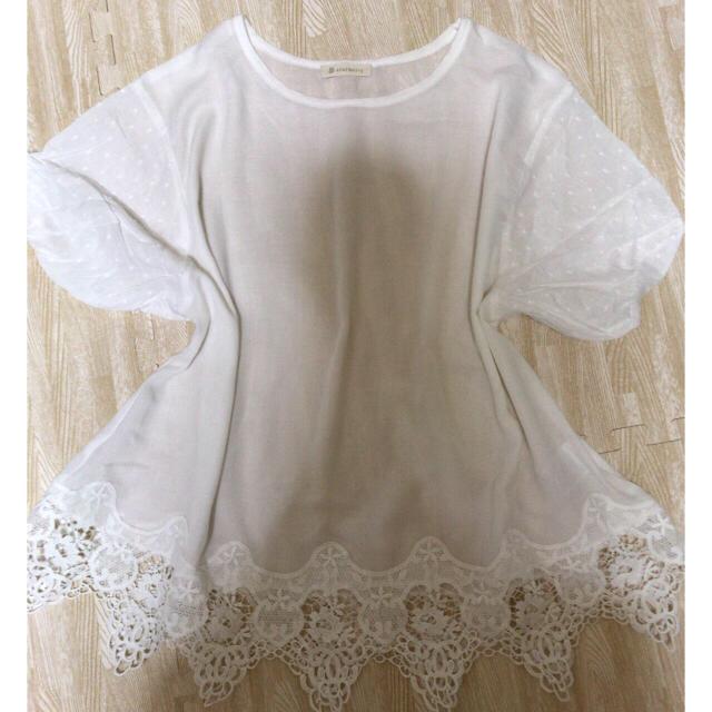 Solberry(ソルベリー)の裾レースブラウス レディースのトップス(シャツ/ブラウス(半袖/袖なし))の商品写真