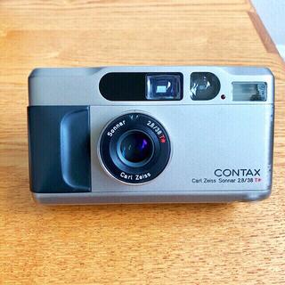 キョウセラ(京セラ)のコンタックス CONTAX T2 シルバー (フィルムカメラ)(フィルムカメラ)