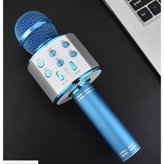 新品 カラオケマイク Bluetooth 青 特別セール  発送方法確認ください(スピーカー)