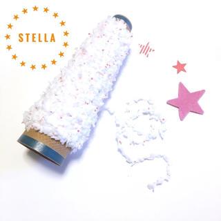 ★STELLA★星のプリントリボン×ボンボン レッド(生地/糸)