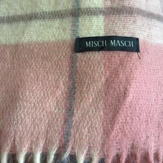 ミッシュマッシュ(MISCH MASCH)のチェックストール ピンク(ストール/パシュミナ)