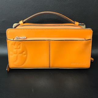 カステルバジャック(CASTELBAJAC)のカステルバジャック セカンドバッグ オレンジ カバン 鞄 ハンドバッグ 革(セカンドバッグ/クラッチバッグ)