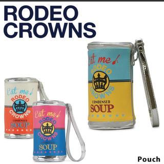 ロデオクラウンズ(RODEO CROWNS)の新品ロデオクラウンズ☆ポーチ  ピンク  クラッチ(クラッチバッグ)