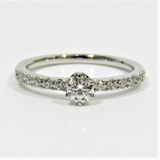 スタージュエリー(STAR JEWELRY)のスタージュエリー 0.15ct ダイヤモンド エンゲージリング 6号 Pt950(リング(指輪))