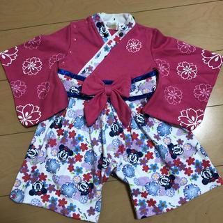 ディズニー(Disney)の袴風ロンパース  カバーオール ミニーちゃん(和服/着物)