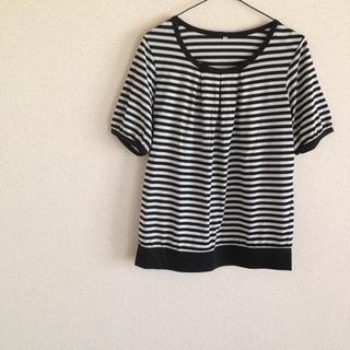 白×黒ボーダー Tシャツ(Tシャツ(半袖/袖なし))