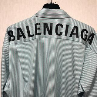 バレンシアガ(Balenciaga)のBALENCIAGA バレンシアガ ストライプ ロゴ シャツ(シャツ)