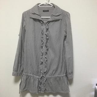 バンブルビー(BumBleBee)のシャツワンピース ロングシャツ(シャツ/ブラウス(長袖/七分))