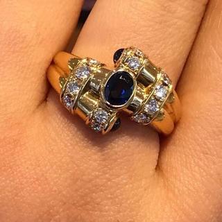 ポーラ(POLA)のPOLA サファイアダイヤリング 15号(リング(指輪))