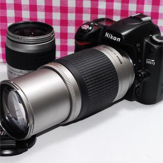 ニコン(Nikon)の❤楽しい思い出を形に❤Nikon D80 大迫力のダブルズームレンズ・安心保証(デジタル一眼)