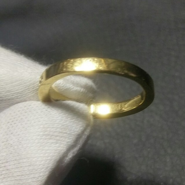 STAR JEWELRY(スタージュエリー)の定価20万↑ Sjx K18 ダイヤモンド リング 指輪 18K アイファニー メンズのアクセサリー(リング(指輪))の商品写真