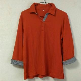 セシール(cecile)のセシールレディースポロシャツ 7分袖(ポロシャツ)
