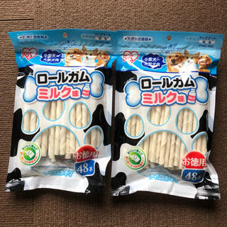 アイリスオーヤマ(アイリスオーヤマ)のドックフード  オヤツ アイリス ロールガム ミルク味 48本入 2個(ペットフード)