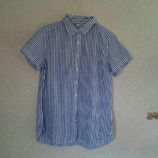 ムジルシリョウヒン(MUJI (無印良品))の無印 ストライプ半袖シャツ(シャツ/ブラウス(半袖/袖なし))