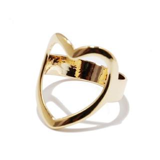 スピンズ(SPINNS)のゴールド ハート リング(リング(指輪))